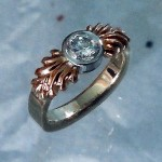 Rose & White Gold Diamond Ring