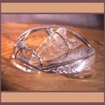 Sterling Silver Bracelet with Quartz Point
