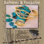 Turquoise and 14 Karat Gold Barbwire Bracelet