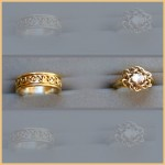 Gold Hand Woven Wedding Rings
