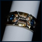Blue Sapphire Barbed Wire Ring