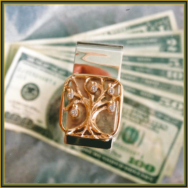 Money Tree Clip With Diamonds