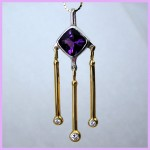 Platinum 18k Amethyst necklace