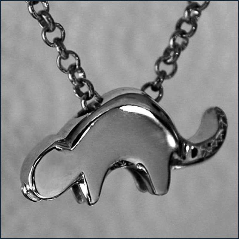 Sterling Silver Beaver Good Luck Charm