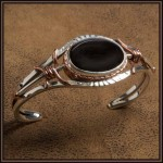 Black Jade From Wyoming; Sterling Silver And Copper