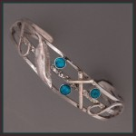Sterling Silver and Turquoise Faith inspired bracelet